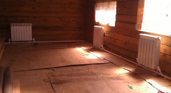 Расположение отопительных приборов по контуру дома