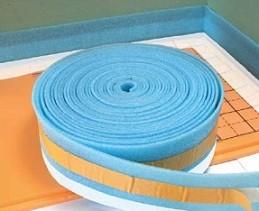 Демпферная лента при теплоизоляции под теплый пол