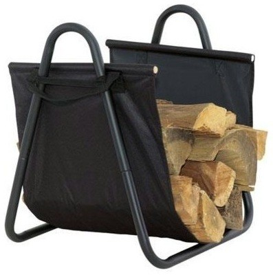 Дровница в виде сумки для каминов