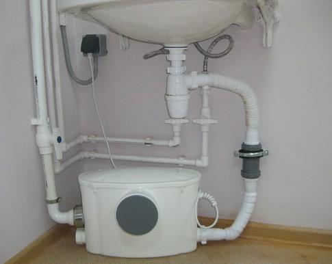 Канализационная насосная станция под раковиной