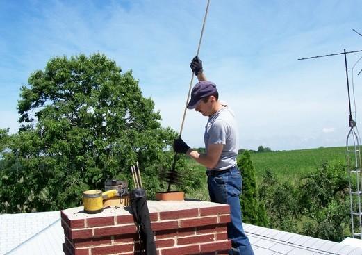Ерш для чистки дымохода - старый и проверенный способ
