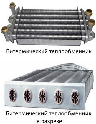 Устройство битермического теплообменника