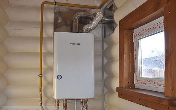 отопление настенным газовым котлом в частном доме