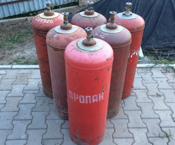 Газовые баллоны объемом 50 литров