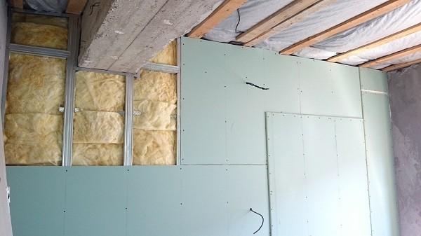 Обшивка стен гипсокартоном в два слоя