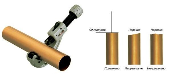 правильный отрез трубы