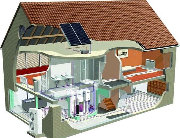Система отопления в двухэтажном доме