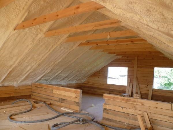 заливка крыши теплоизоляцией