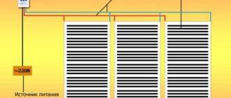 Схема подключения инфракрасного теплого пола под плитку