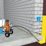 Технология работ инъекционной гидроизоляции
