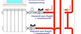 Схема монтажа терморегулятора на радиатор