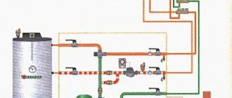Схема рециркуляции с бойлером косвенного нагрева