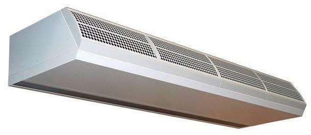 Горизонтальная электрическая тепловая завеса