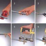 Инструмент и монтаж труб из сшитого полиэтилена