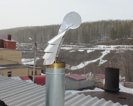 Флюгер-дефлектор для создания тяги