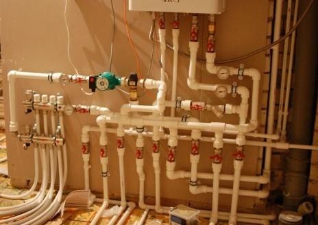 разводка труб отопления от котла