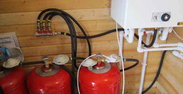 Газовые баллоны с отдельными редукторами