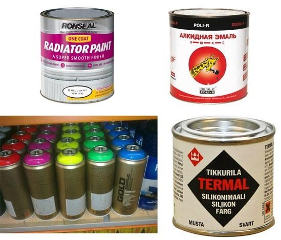 Виды красок для радиаторов